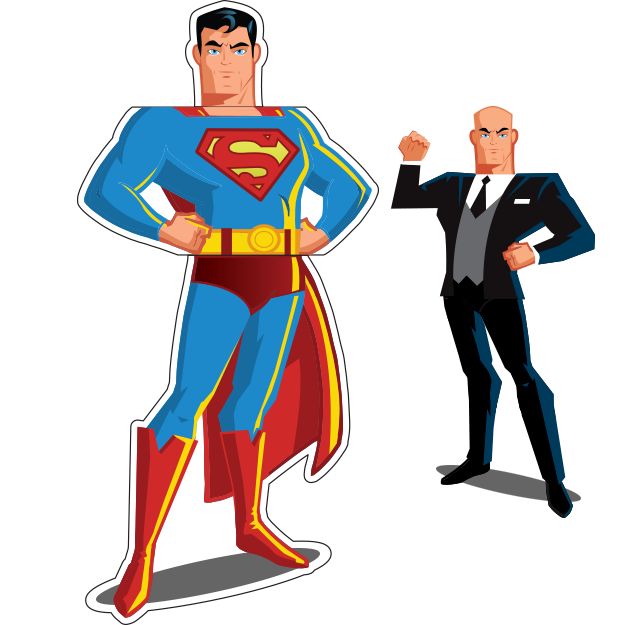 Superman / Lex Luthor Mix-&-Match