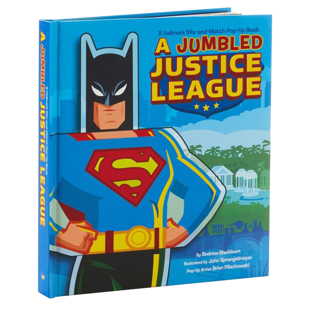 A Jumbled Justice League Mix-&-Match Pop-Up Book