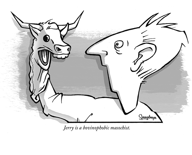Bovinophobia • Sprengelmeyer Cartoon