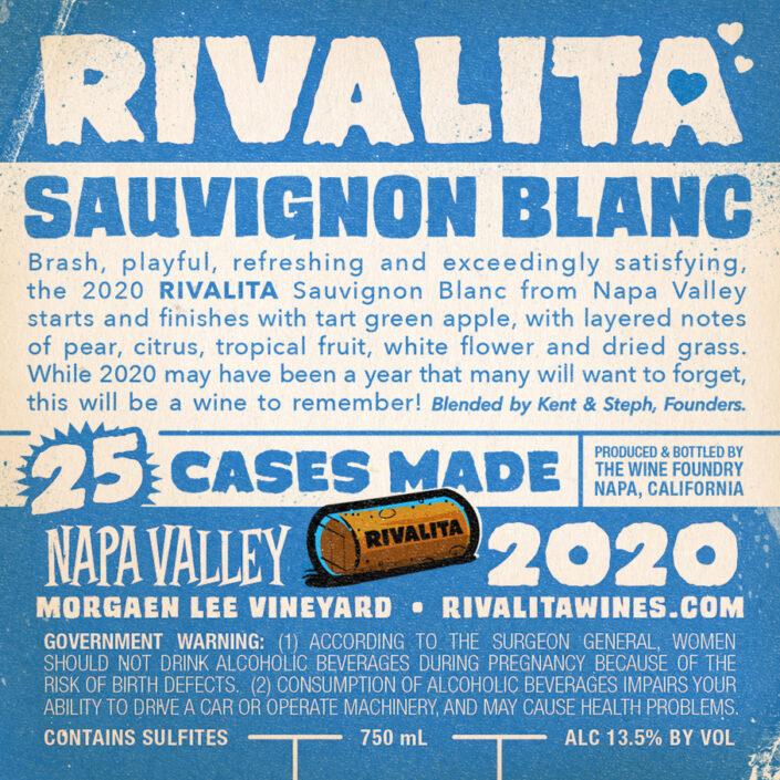 Rivalita Sauvignon Blanc - Back Label